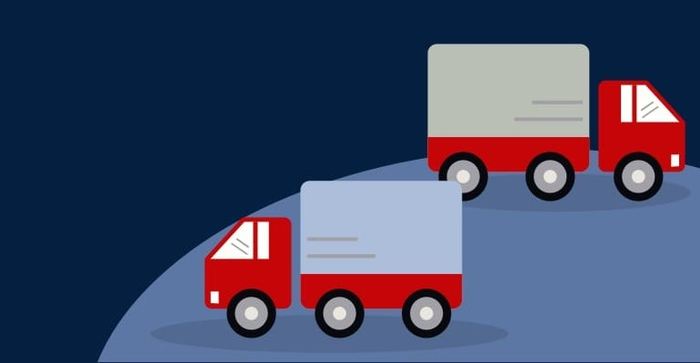 Two trucks illustration