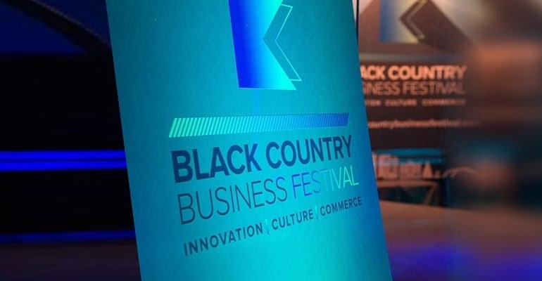 Black Country Business Festival 2019 sign