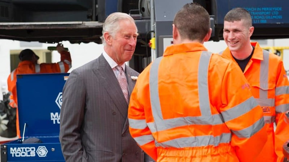 Prince Charles meeting GTG apprentices